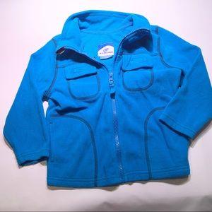 Slalom Fleece Zip Sweater 3T Turquoise
